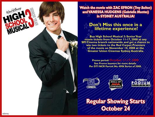 Watch Zac Efron (Troy Bolton) and Vanessa Hudgens (Gabriella Montez) LIVE in Sydney, Australia!