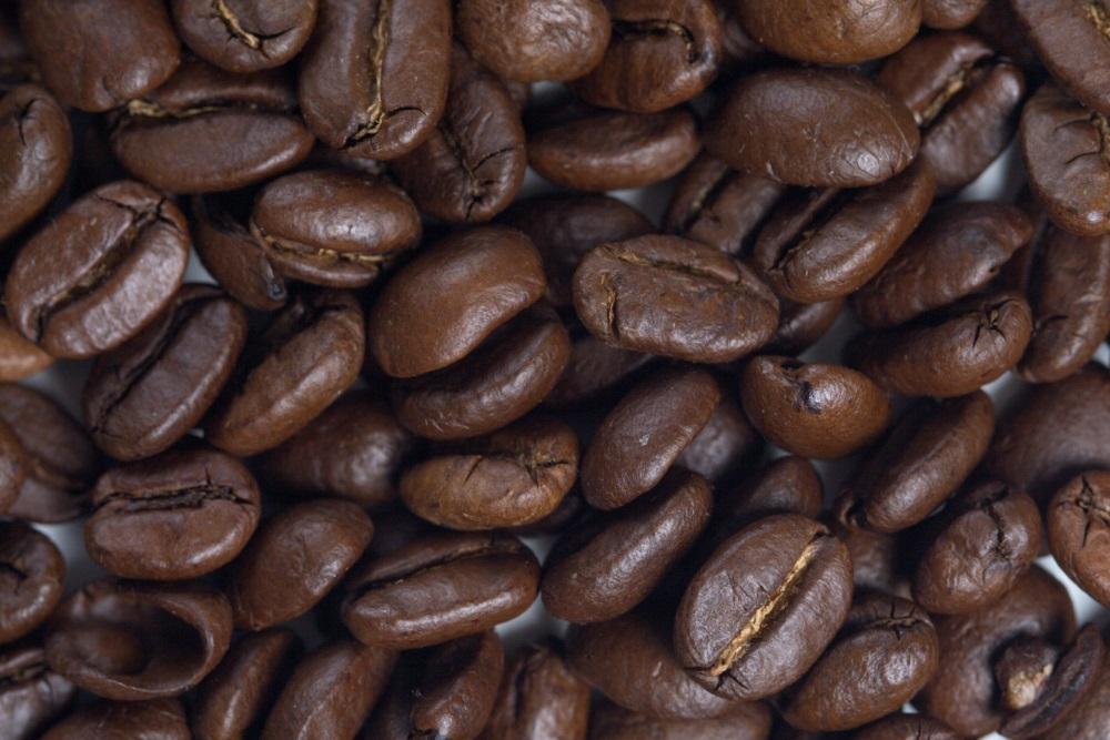 Coffee grains - close up